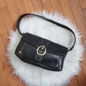 NWOT Relic Black Leather Buckle Shoulder Bag